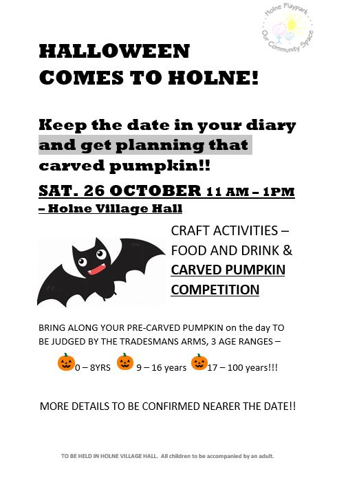 HALLOWEEN IN PLAYPARK date for diary